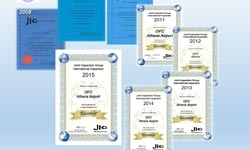 JIG's Certificate of Excellence for OFC for 8th consecutive year